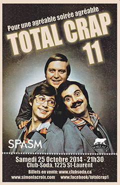 Total crap 11 club soda spasm 2014